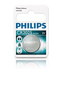Philips Lithium Button Cell Battery 3V, CR2025, DL2025, 10 Batteries
