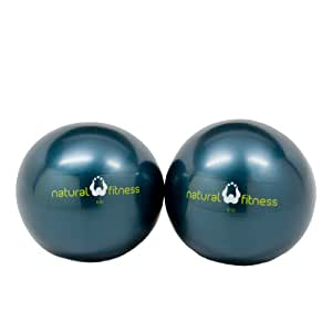 Natural Fitness Pair Soft Weighted Balls Pair, 6-Pounds Each (Ocean)