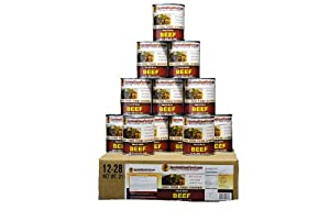 Canned Beef 1 Case 12 28oz Cans Emergency Long Term Food Storage By Survival Cave by Survival Cave