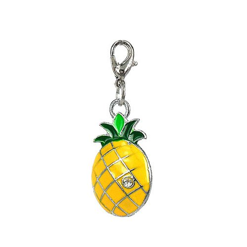 Charm pineapple in steel by Charming Charms. Free shipping up to 30£
