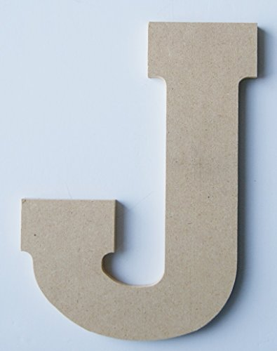 "Pressed Wood Initials Wall Decor - 8"" Block J - 1"