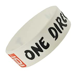 White I Love One Direction Wristband I Love One Direction Bracelet 1 Wide 12 by Hinky Imports