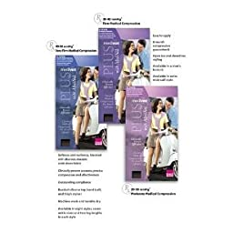 Mediven Plus 30-40 mmHg Knee High OT w/Beaded Silicone Band : Beige Size V