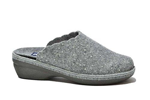 Melluso Ciabatte scarpe donna grigio plantare estraibile PD306 36
