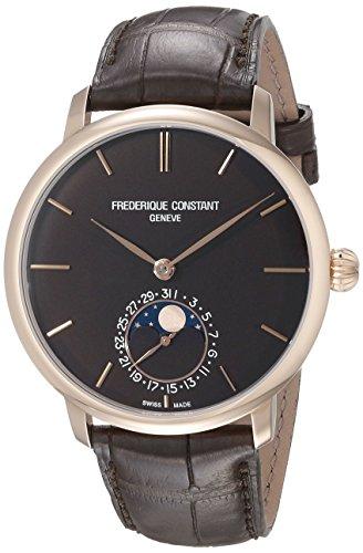 Frederique Constant 705C4s9da uomo Slimline quadrante marrone, cinturino marrone orologio automatico