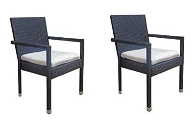 2 x Poly Rattan Sessel Stuhl Stühle Rattensessel Rattanstuhl Rattanmöbel von D&S Vertriebs GmbH - Gartenmöbel von Du und Dein Garten