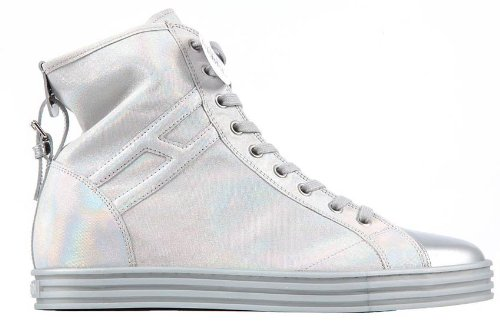 Hogan scarpe sneakers alte donna in pelle rebel