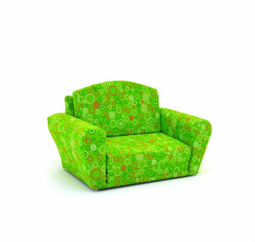 Kidz World Circles Chartreuse Sofa Sleeper