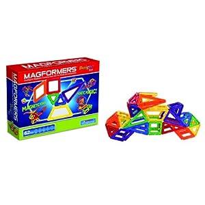 Magformers Magnetic Building Construction Set - 62 Piece Designer Set