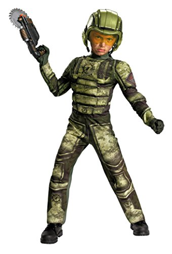 Boys Foot Soldier Muscle Kids Child Fancy Dress Party Halloween Costume