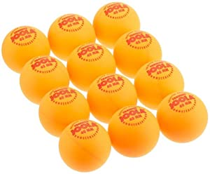 JOOLA TRAINING Orange 40mm Table Tennis Balls, 12-Count
