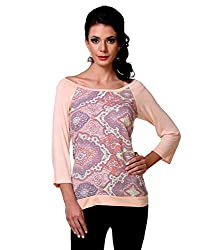 Zastraa Women's Top (ZSTRTOPS0053_Peachpuff_X-Large)