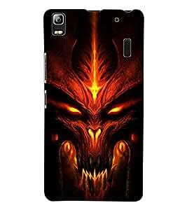 ColourCraft Scary Face Design Back Case Cover for LENOVO K3 NOTE