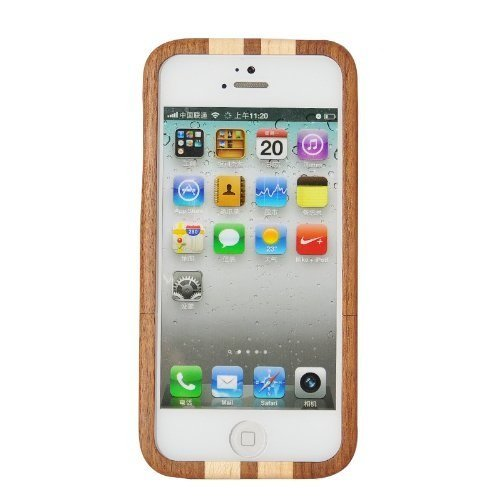 GooDGo Natural Wood Wooden Hard bamboo Case Cover for iPhone 5 iphone 5S/5C