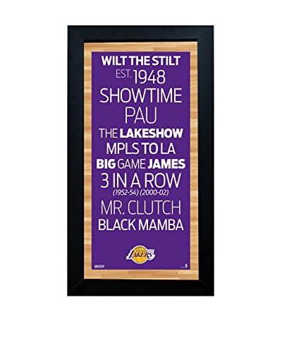 Steiner Sports Memorabilia Framed Los Angeles Lakers Desktop/Wall Hangable Subway Sign Wall Art