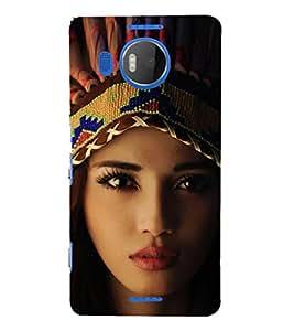 EPICCASE Tribal woman Mobile Back Case Cover For Microsoft Lumia 950 XL (Designer Case)