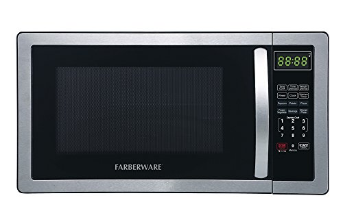 Buy Discount Farberware FMWO11AHTBKB Classic 1000W Microwave Oven, 1.1 cu. ft., Stainless Steel