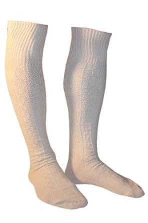 Weri Spezials Chaussettes pour Hommes. Couleur: Creme, Chaussettes Folkloriques Allemands, Taille: 43-46