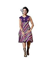 Viva N Diva Women's Purple Color Cotton Rayon Kurti.