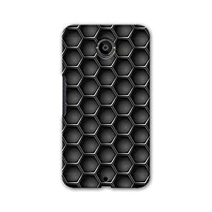 ArtzFolio Metal Hexagons : Google Nexus 6 Matte Polycarbonate Original Branded Mobile Phone Designer Hard Shockproof Protective Back Case Cover Protector