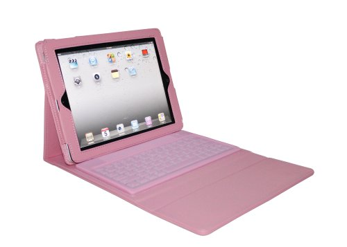 Sanoxy® Bluetooth Keyboard Pu Leather Case Cover For Apple® Ipad2 Ipad 2 2Nd/ Ipad3/ 4 Pink
