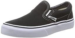 Vans Boys\' Classic Slip-On,Black/True White,US 11.5 M