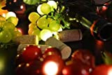 Grape String Lights, 8 Clusters of Red and Green, LEDs, Plug In
