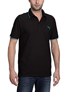 Puma Polo Homme Black/Bluebird FR : 44/46 (Taille Fabricant : S)