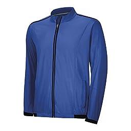 Adidas 2014 Men\'s ClimaProof Stretch Wind Jacket (Vivid Blue - M)