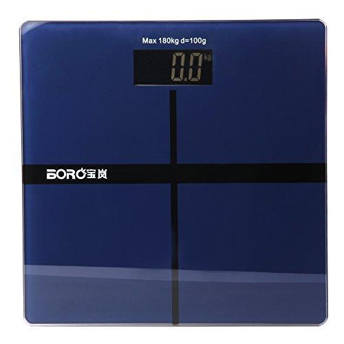 BORA Digital Weight Scales Bathroom Body Electronic Scale in kg Simple Nice-looking (dark blue)