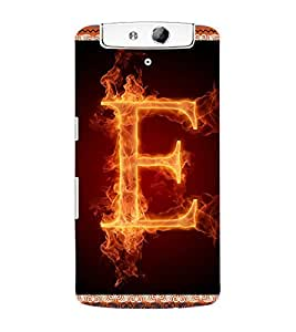 ColourCraft Alphabet E Back Case Cover for OPPO N1