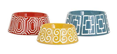 imax-11733-3-maisy-gamelle-en-ceramique-pour-chien-lot-de-3