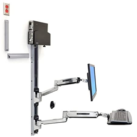 Ergotron 45-359-026 LX Sit Stand Wall Mount System for 42 inch LCD Plasma TV