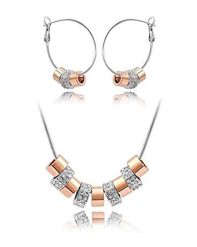 24K placcato oro di cristallo 9 Circles Fashion Jewellery - Set completo , regalo perfetto
