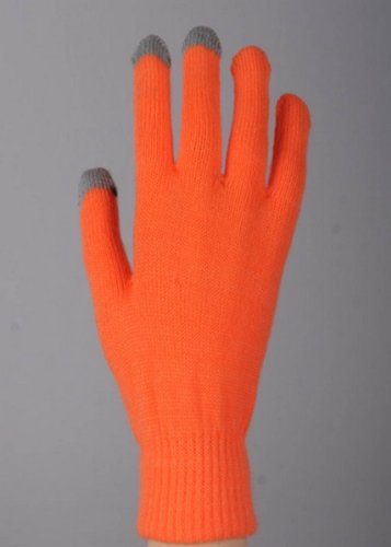 Orange Yelete Texting Gloves (One Pair) - Smart Phone Texting Gloves - 1