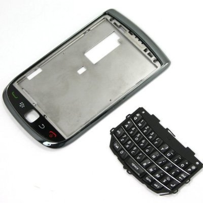 Original Genuine OEM BlackBerry Torch 9800 Front Slider Housing Faceplate Fascia Plate Panel Cover Case Repair Replace Replacement+Keyboard Keypad Key Keys Button Buttons Cover Repair Replace Replacement (Torch 9800 Housing compare prices)