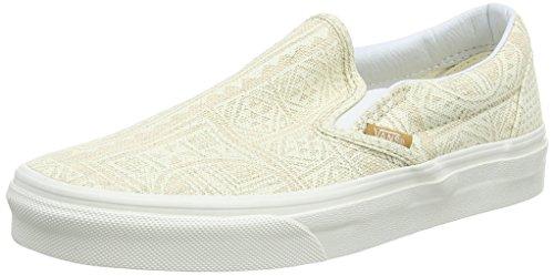 Vans Classic Slip-on Scarpe da Ginnastica Basse, Unisex Adulto, Beige (pacific Isle/natural/blanc De Blanc), 42  EU