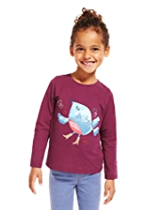 Pure Cotton Bird Print T-Shirt