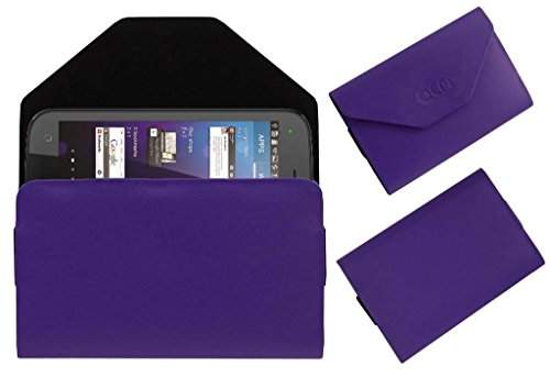 Acm Premium Pouch Case For Micromax Superfone Canvas 2 A110 Flip Flap Cover Holder Purple  available at amazon for Rs.179