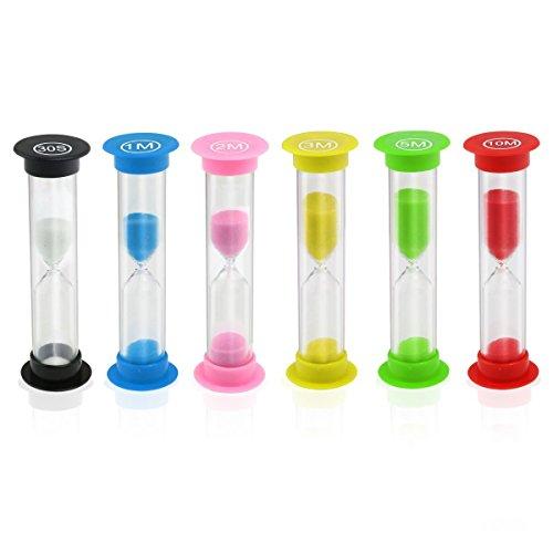EMDMAK Sand Timer Hourglass Sandglass Sand Clock Timer 30sec / 1min / 2mins / 3mins / 5mins / 10mins (6 Pieces) (Hourglass Timers compare prices)