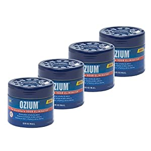 Ozium Smoke & Odors Eliminator Gel. Home, Office and Car Air Freshener 4.5oz (127g), Original Scent (Pack of 4) by Auto Expressions
