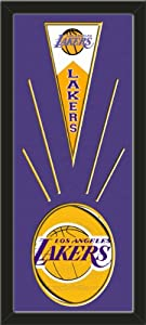 Los Angeles Lakers Wool Felt Mini Pennant & Los Angeles Lakers Team Logo Photo -... by Art and More, Davenport, IA