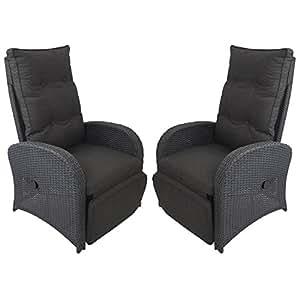2 st ck poly rattan gartensessel rattansessel rattanstuhl relaxsessel fernsehsessel. Black Bedroom Furniture Sets. Home Design Ideas