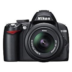 Nikon D3000 SLR-Digitalkamera (10 Megapixel) Kit inkl. 18-55II 1:3,5-5,6G Objektiv