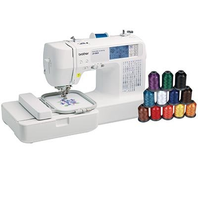 Brother LB-6800THRD Computerized Sewing and Embroidery Machine Bonus: 12-pc Thread Pack Includes: 4