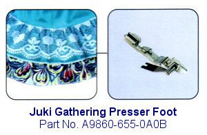 Juki Gathering Serger Foot - A9860-655-0A0B (Juki Mo 655 compare prices)