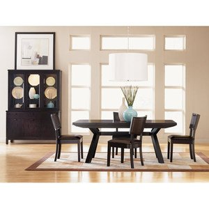 Save More For Sitcom Furniture Stockton 6 Piece Trestle Dining Table Set In  Java Today