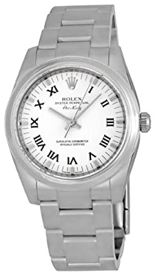 Rolex Airking White Roman Numeral Dial Domed Bezel Mens watch 114200WRO from Rolex