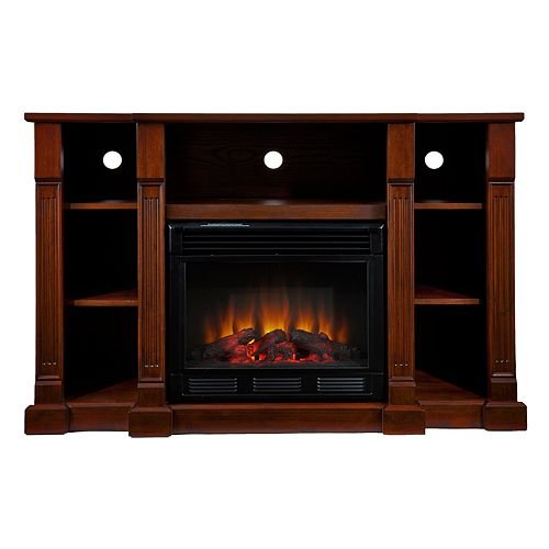 Chaucer Media Console and Electric Fireplace image B00A3G73JC.jpg