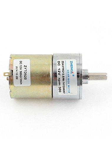 Uxcell a15051900ux0018 shaft high torque gear box electric for 300 rpm high torque dc motor